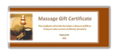 printable back rub gift certificates free printable gift certificate templates for massage
