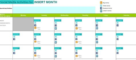 The Ultimate Guide To Creating Your Social Media Calendar Social Media Calendar Template