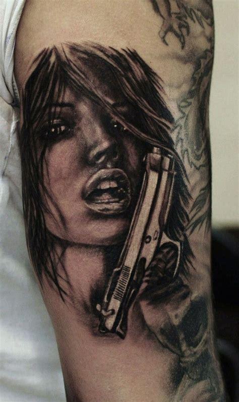 girl gun tattoos gap filler gun hammersmithtattoo
