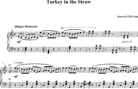 free printable sheet music turkey in the straw turkey in the straw piano sheet music turkey in the straw