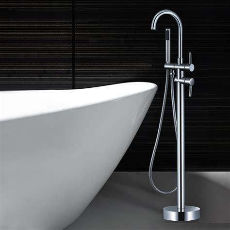 How To Install Bathroom Faucet by Floor Standing Mounted Freestanding Bath Mixer Tap Spout