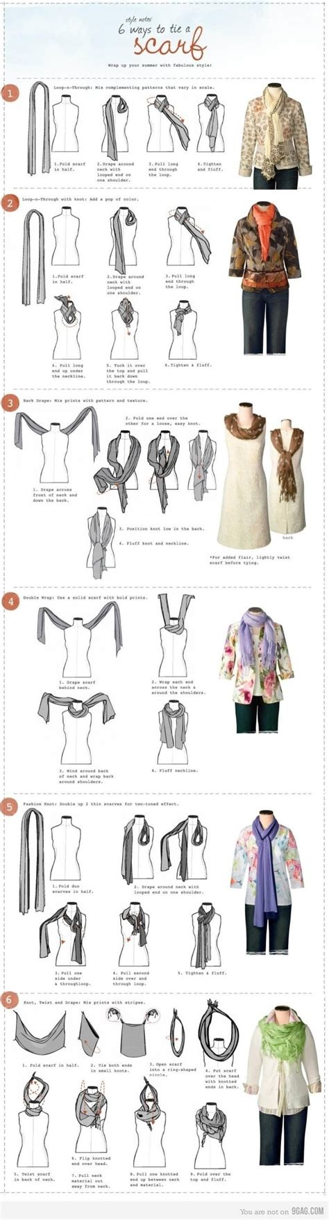 different ways to wear a scarf style