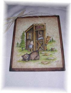 black bear outhouse wall plaque bathroom home decor accent bear bathroom decor on pinterest