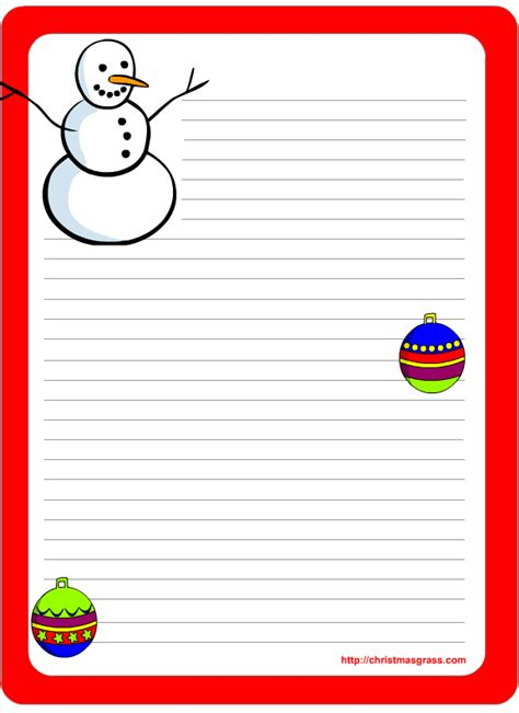 free santa letterhead template free printable and stationery