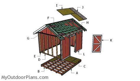 shed roof plans myoutdoorplans  woodworking