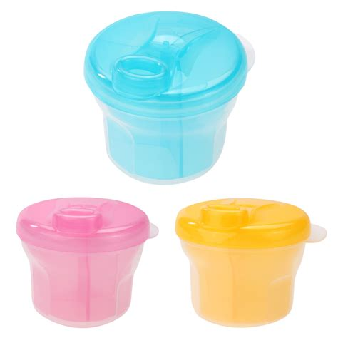 Piccono Milk Powder Box 1pcs 3 layer rotary milk powder box safety storage box container product portable milk powder