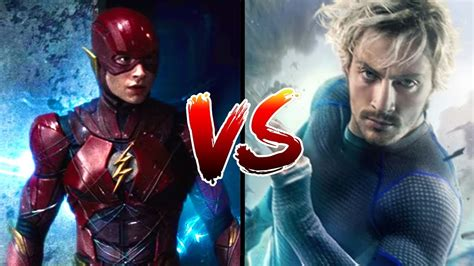 movie quicksilver vs flash dceu flash vs mcu quicksilver who is faster youtube