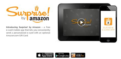 Sending Amazon Gift Card - digifun studios amazon launches surprise an e card app for sending amazon gift cards
