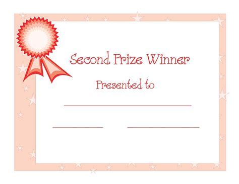 winners certificate template 2nd winner certificate template free d templates