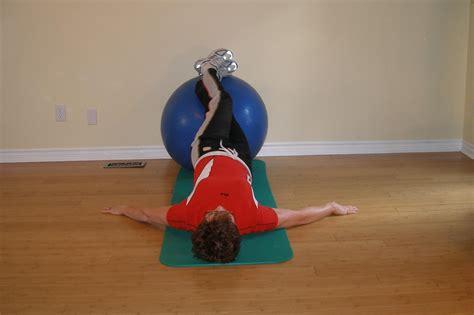 exercise ball bridge  hip roll