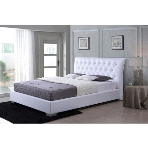 white queen platform bed with headboard 1000 ideas about white queen bed on pinterest white