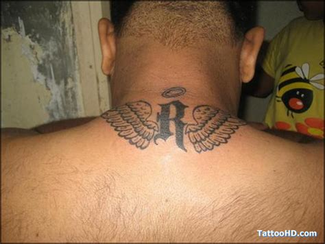 angel wings tattoo on back wings tattoos on back neck