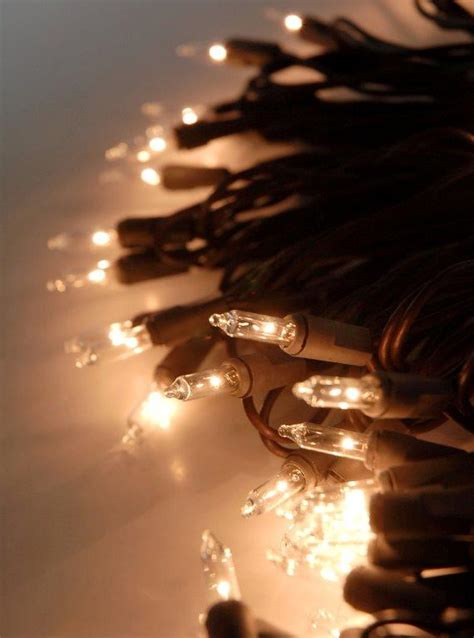 Clear String Lights Brown Wire 100 Bulb Brown String Lights