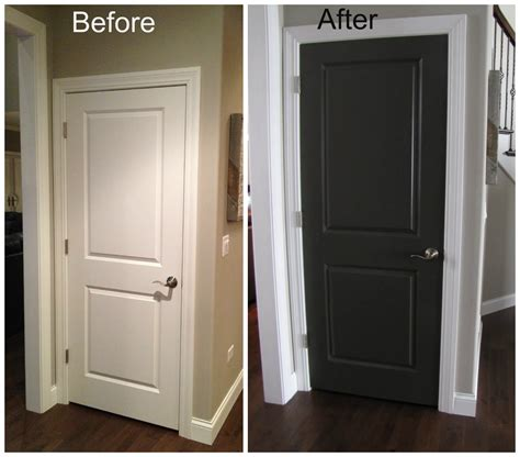 painting doors and trim different colors black interior doors before and after door before and