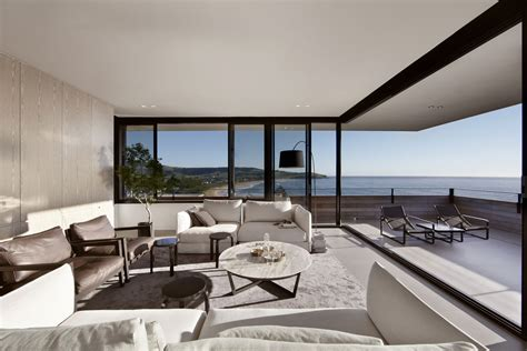 view interior of homes lamble modern beach house with 270 views of the ocean by