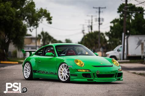 green porsche green porsche 911 gt3 rs rides on white hre wheels gtspirit