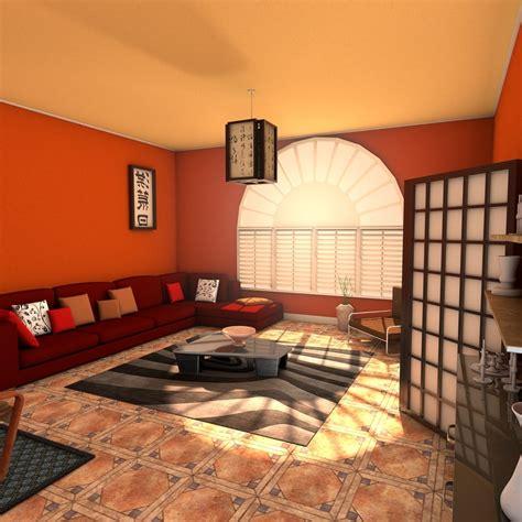 3d model designs living zen room