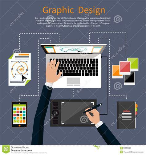 design concept graphic graphic design and designer tools concept stock vector