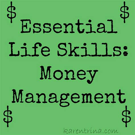 your money matters money management you were never taught in school books karentrina childress essential skills money management