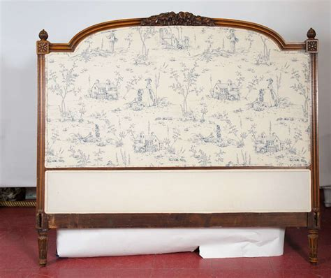 headboard in french french upholstered headboard at 1stdibs