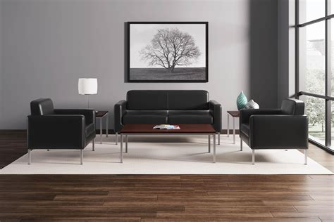 basyx by hon hvl888 soft thread leather sofa