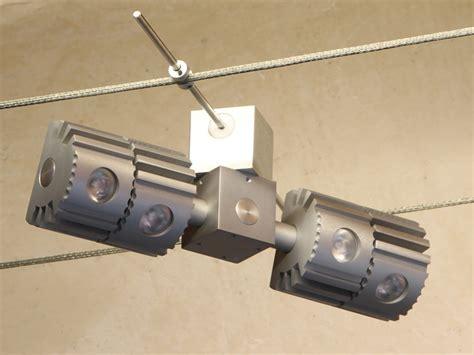 illuminazione tesata aries led tesata lada a sospensione su cavi by
