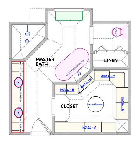 Masterbath addition floor plans moreover master bathroom floor plan 14