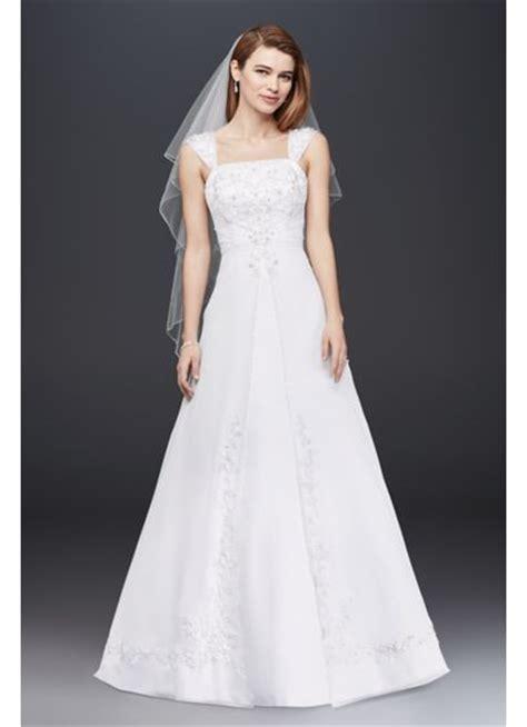 Dress Model A Line a line chiffon split front overlay wedding dress david s