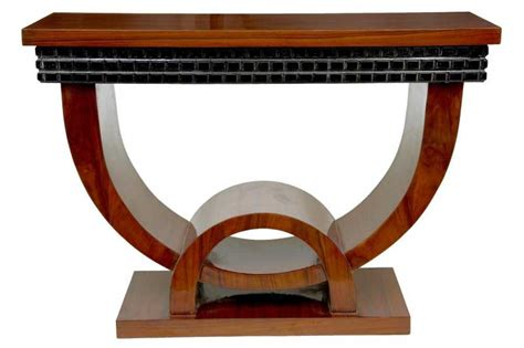 art deco furniture designers walnut art deco console table hall tables vintage furniture