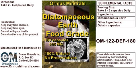 Diatomaceous Earth Detox Results by Whatisormus Diatomaceous Earth Health Benefits