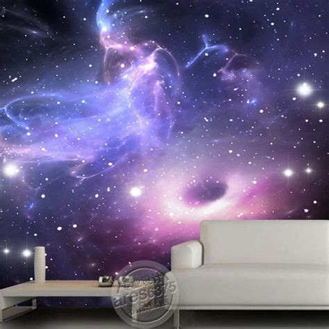 Galaxy Bedroom Wallpaper by Universe Galaxy Ceiling Or Wall Mural Room Ideas