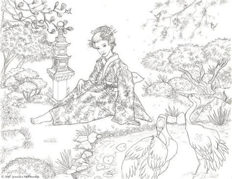 japanischer garten zeichnung coloriage japon coloriage jardins