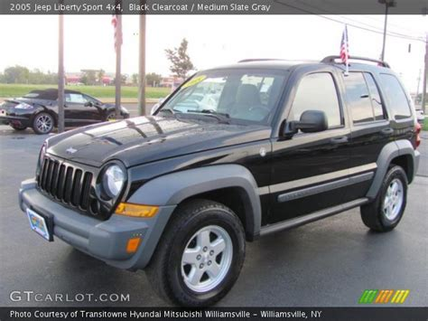 black jeep liberty 2005 black clearcoat 2005 jeep liberty sport 4x4 medium