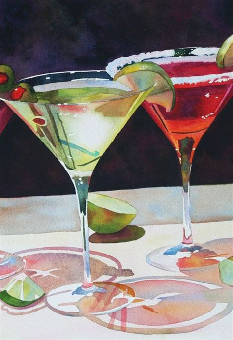 watercolor cocktail pinterest the world s catalog of ideas