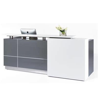 calvin reception counter 2500x950x1150 grey premier