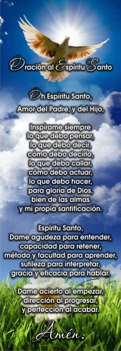oracion al espiritu santo te quiero dios and tes on pinterest