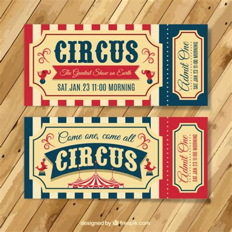 printable circus tickets vintage circus tickets vector free download