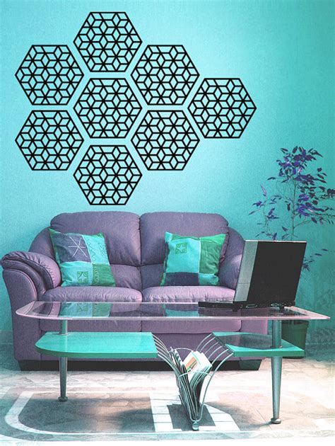 geometric wall stickers geometric pattern wall decal set of 8 wall decals