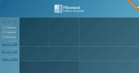 page layout with flexbox flexbox page layout composer fibonacci