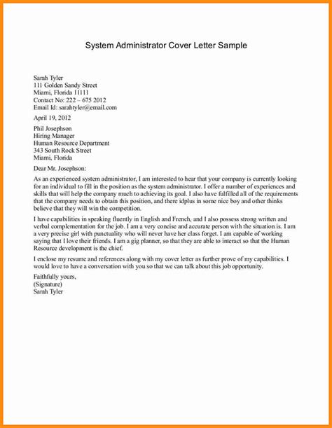 Sle Resume Cover Letter Administrative Position Cover Letter For An Administrator 32 Images