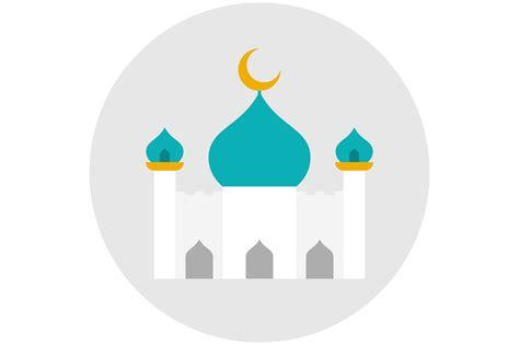 Mosque icon flat ~ Icons ~ Creative Market