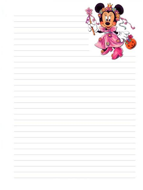 printable disney stationary 17 best images about cute lined paper on pinterest