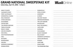 Grand National 2016 Sweepstake - sport news grand national sweepstake your essential kit for the 2016 race