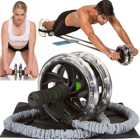 ab wow ab roller abdominal exercise equipment with bonuses ab wheel roller ebay