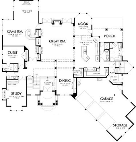 2 story open floor plans two story prairie open floor plan house plans pinterest