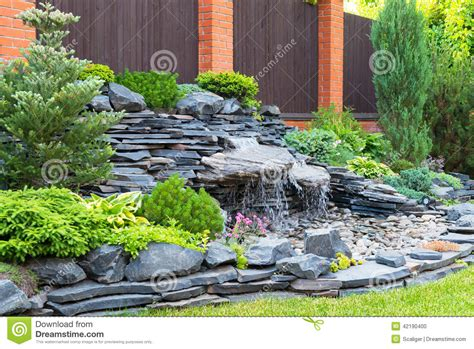Gardening Naturally Landscaping In Home Garden Stock Photo Image