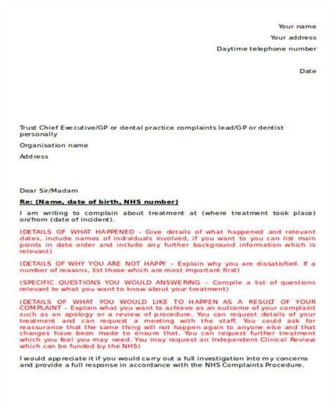 36 Complaint Letter Exles Sle Templates Negligence Complaint Letter Template