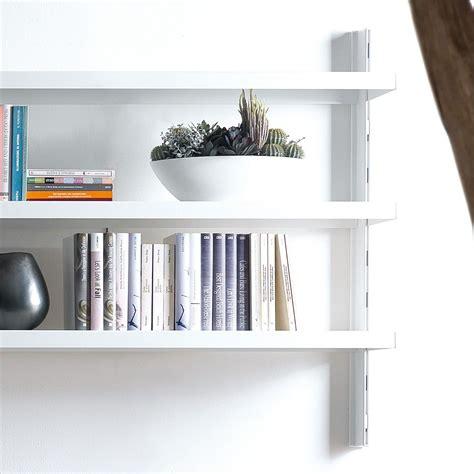 scaffali da parete melker scaffale da parete in acciaio bianco nero grigio