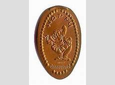Vintage Disneyland penny press machine coins Elongated Penny Press