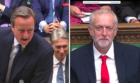 shout mp watch david cameron mocks corbyn for labour divisions as